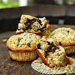 recette Muffins à la crème, sans beurre, et aux pépites de chocolat