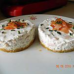 recette Cheesecake saumon fumé ciboulette