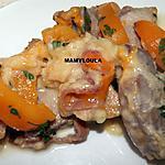 recette Roti de porc aux trois fromages et aux pêches