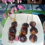 recette Brochette de boulette de poulet yakitori
