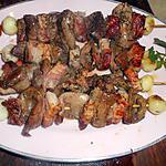 recette Brochette de rognons de porc au lard