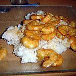 recette Crevettes marinées sautées