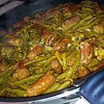 recette Poêlée d'haricots vert epicé au merguez
