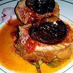 recette Paupiettes de veau à la sauce tomates et aux pruneaux