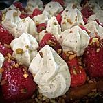 recette La fameuse tarte aux fraises/pistache de Michalak