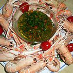 recette Langoustines vinaigrette a l échalotes grises