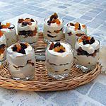 recette Verrines aux fruits secs