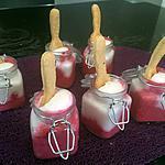 recette Verrine betterave boursin et crème de surimi