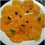 recette Carpaccio d'oranges épicée