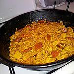 recette Fideua au poulet et chorizo