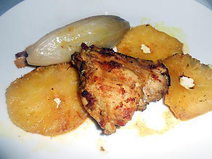 Poulet grille au curry et ananas 430