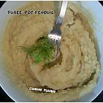 recette Purée de Pdt et de fenouil
