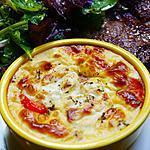 recette Flan chèvre / tomates