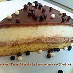 recette Bavarois poire chocolat et son miroir au praliné (ww)