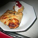 recette chausson rhubarbe , banane  d u blog  l eau a la bouche