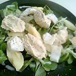 recette Salade a la pomme de terre, poisson, houmous