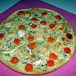 recette Pizza 4 fromages/tomates cerise