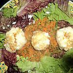 recette Salade de boulette de crevette a la vapeur