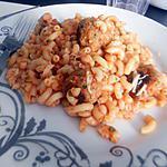 recette Coquillettes sauce tomate boulettes de sardines