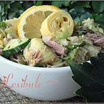 Salade d'artichaut, thon, coriandre et câpres