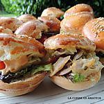 recette Mini burger poulet