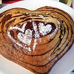 recette Gâteau coeur d'amour zébré
