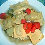 recette BOUILLON DE RAVIOLE COMTE ET FINES HERBES ET LEGUMES (une assiette régime)