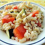 recette Papillotes de blé aux tomates et courgette