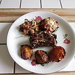 recette roti de porc  romarin; bacon; fromage