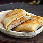 recette Bricks de légumes aux crevettes, cacahuètes et raisins secs au curry