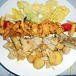recette BROCHETTE POULET ANANAS