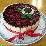 recette Entremets Framboises, Chocolat Blanc et Fruits Rouges en Gelée