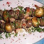 recette Brochette de rognons d agneau  à la parisienne