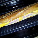 recette Croque *baguette* Monsieur au jambon et cheddar