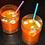 recette Potage Glacé Tomate, Poivron et Lait de Coco