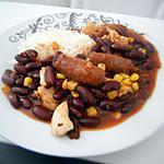 recette Haricots rouges au blanc de dinde & merguez
