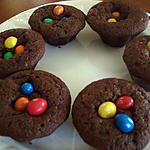 recette Petits gâteaux au chocolat et M&M's