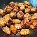 recette Boulettes de mignon de porc à l'ananas