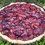 recette Tarte au quetches du jardin aux palets breton et gelée de tilleul