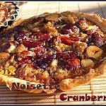 recette Tartelettes aux fruits secs & cranberries