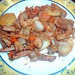 recette WOk de dinde au chou chinois