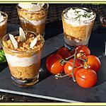 recette Verrines de mousse de jambon et tomates confites