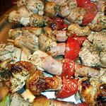 recette Brochette de porc a l origan