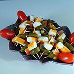 recette Petites brochettes surimi/cornichon