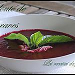 recette velouté de betteraves