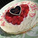 recette Mon Premier Gâteau de fêtes des Meres (tiramisu coeur de fraises)de mon Papa