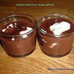 recette CRÈME CHOCOLAT MASCARPONE