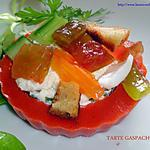 recette TARTE GASPACHO