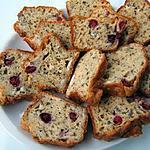 recette Cake au bleu de Bresse et canneberges fraiches