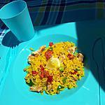 recette Salade *Pique-nique* de riz à l'espagnole de mon Papa